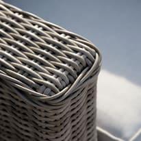 Divano NATERIAL Costarica in alluminio colore naturale 2 posti