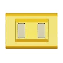 Placca FEB Laser 2 moduli oro compatibile con magic