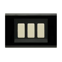 Placca FEB Laser 3 moduli nero compatibile con magic