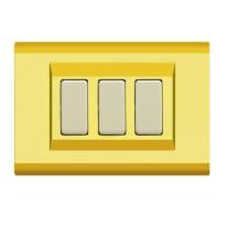 Placca FEB Laser 3 moduli oro compatibile con magic