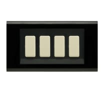 Placca FEB Laser 4 moduli nero compatibile con magic