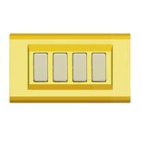 Placca FEB Laser 4 moduli oro compatibile con magic