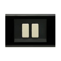 Placca FEB Laser 2 moduli nero compatibile con magic