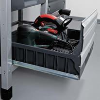 Banco da lavoro fisso WOLFCRAFT 10 cassetti, L 161 x H 86 x P 65 cm, 600 kg
