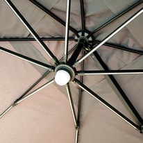 Ombrellone decentrato NATERIAL Samos L 3 x P 4 m grigio