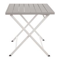 Tavolo da pranzo per giardino quadrata City in alluminio L 70 x P 70 cm