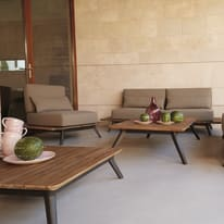 Coffee set in teak Cosmo per 5 persone