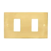 Placca CAL Magic 2 moduli ottone lucido