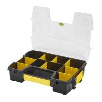 Contenitore per viti con cassetti STANLEY SortMaster Light in polipropilene nero 10 scomparti