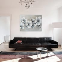 Quadro dipinto a mano Blooming 120x90 cm