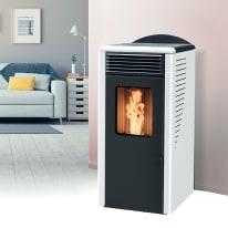Stufa a pellet ventilata Fusion 8.2 8 kW bianco