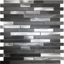 Mosaico Urban H 0.8 x L 30 cm grigio argento