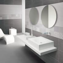 Decoro Karin bianco,grigio L 30 x H 60 cm