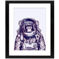 Stampa incorniciata Astronauta 40x50 cm