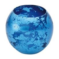 Bicchiere porta spazzolini Murano in vetro azzurro