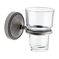 Bicchiere porta spazzolini Elite in vetro trasparente