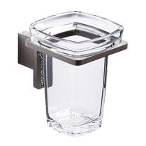 Bicchiere porta spazzolini Tokio in acrilico trasparente