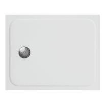 Piatto doccia ultrasottile resina sintetica e polvere di marmo Easy 80 x 100 cm bianco