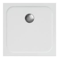 Piatto doccia ultrasottile resina sintetica e polvere di marmo Easy 70 x 70 cm bianco