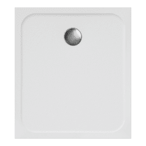 Piatto doccia ultrasottile resina Easy 80 x 90 cm bianco