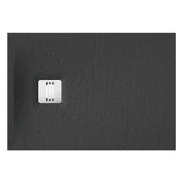 Piatto doccia ultrasottile resina sintetica e polvere di marmo Remix 70 x 100 cm nero