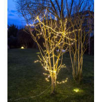 Ramo luminoso 504 lampadine bianco caldo H 300 cm