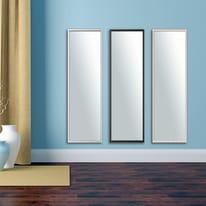 Specchio a parete rettangolare Milo xxl bianco 40x140 cm
