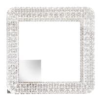 Plafoniera Soledad trasparente e cromato lucido, in policarbonato, 40x40 cm, LED integrato 24W 1920LM IP20