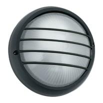 Plafoniera 3074/S NR in alluminio + vetro, nero, E27 MAX42W IP44
