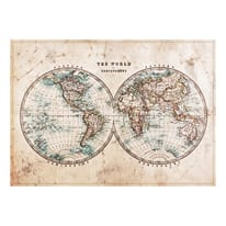 Stampa su tela Mappe mondo carta 100 x 140 cm