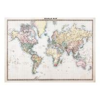 Stampa su tela Mappa carta 100 x 140 cm