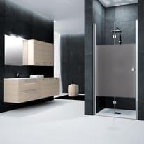 Porta doccia pieghevole Neo 75 cm, H 201.7 cm in vetro temprato, spessore 6 mm serigrafato cromato