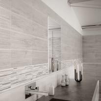 Piastrella North Wind L 20 x H 50 cm grigio bianco