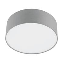 Plafoniera Sitia grigio, in tessuto10 cm, diam. 29 cm, E27 MAX40W IP20 INSPIRE