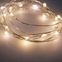 Catena luminosa 120 lampadine LED bianco caldo 1190 cm