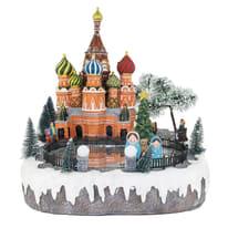 Villaggio di natale animato Mosca