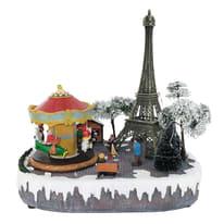 Villaggio di natale animato Parigi