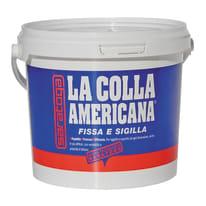 Adesivo di fissaggio Colla americana  bianco 4,5 kg