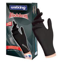 Guanti in nitrile WALKING Blackderm 8 / M nero, 100 pezzi