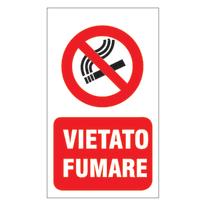Cartello segnaletico Vietato fumare vinile 20 x 30 cm