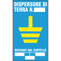 Cartello segnaletico Dispersore terra pvc 20 x 30 cm