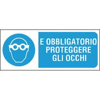 Cartello segnaletico Proteggere occhi pvc 31 x 14 cm