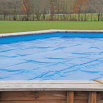 Copertura per piscina invernale GRE in polietilene 360 x 585 cm