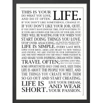 Stampa incorniciata Life 50x70 cm
