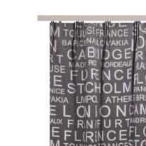 Tenda INSPIRE Oscurante Vintage grigio fettuccia con passanti nascosti 140x280 cm