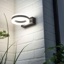 Applique Saturn LED integrato in alluminio, nero, 12W 730LM IP54 INSPIRE
