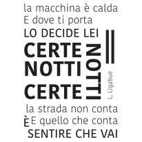 Sticker Certe notti 47x65 cm