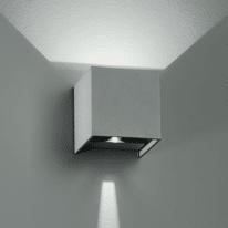 Applique ALFA/6W LED integrato in alluminio, grigio metallizzato, 6W 500LM IP54