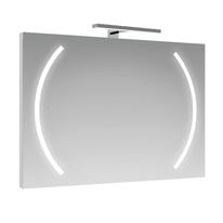 Specchio con illuminazione integrata completo di faretto bagno rettangolare Boomerang L 70 x H 90 cm SENSEA