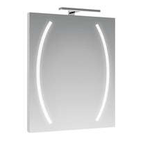 Specchio con illuminazione integrata completo di faretto bagno rettangolare Boomerang L 60 x H 80 cm SENSEA